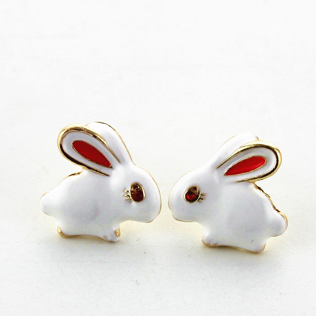 Cute Baby Children Earrings Rabbit Animas