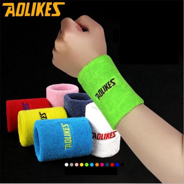 12 Colors 2 Size Tennis Headband Outdoor Sports Cotton Absorb Sweat Tennis Wrist Wipe Perspiration Sweat Towel Sport Wrist 1PCS