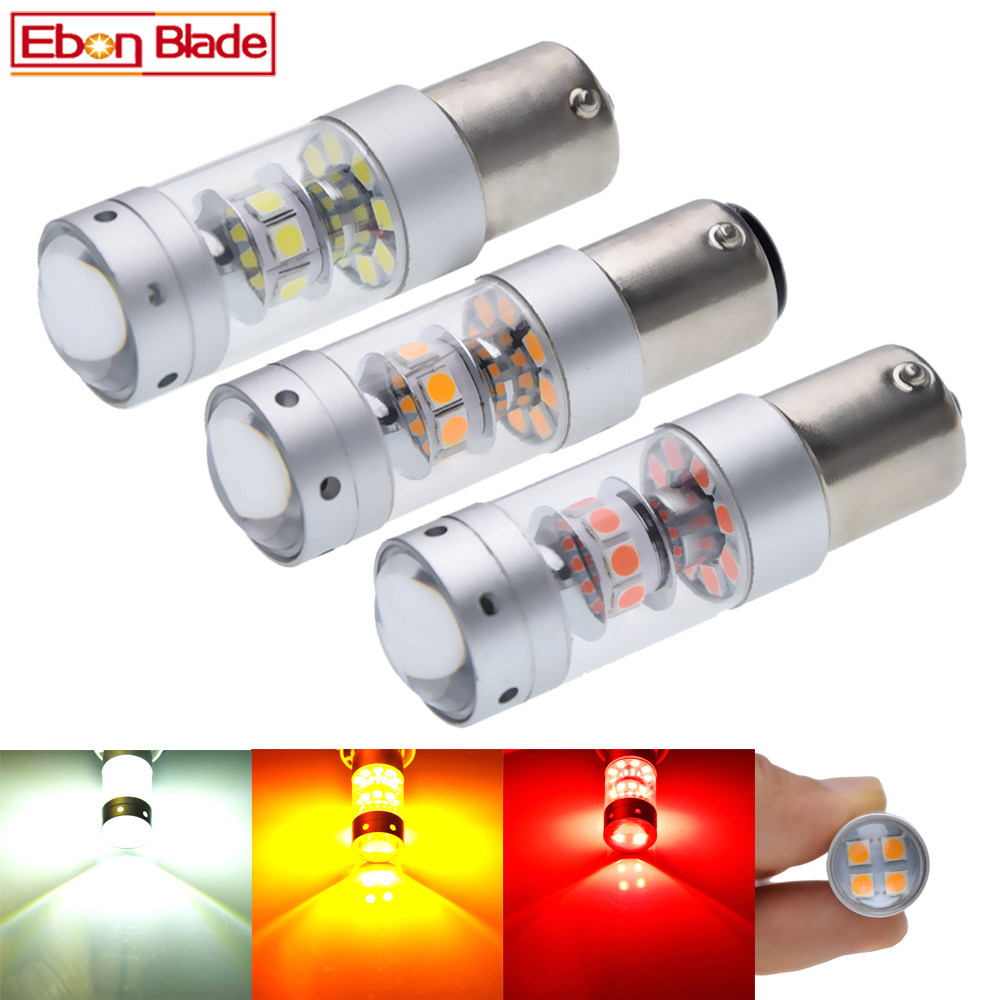 1156 BA15S P21W 1157 BAY15D P21/5W Car LED Light 3030 140W Auto Brake Reverse Turn Signal DRL Bulb Lamp 12V 24V White Red Amber-in Signal Lamp from Automobiles & Motorcycles