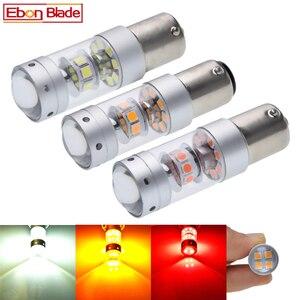 Image 1 - 1156 BA15S P21W 1157 BAY15D P21/5W samochodów LED światła 3030 140W hamowania samochodu cofania Turn Signal DRL lampy 12V 24V biały czerwony bursztyn
