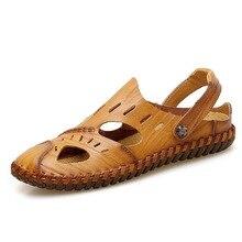 купить Summer Sandals Men Leather Classic Roman Sandals Slipper Outdoor Beach Sandals Sneaker Beach Rubber Flip Flops Man casual shoes по цене 1611.62 рублей