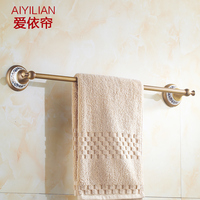 All Copper Towel Rack Antique European Porcelain Retro Single Towel Bar Towel Hanging Racks Bathroom Accessories