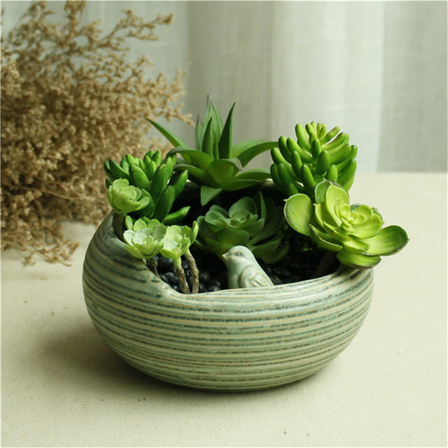 Birds Indoor Herb Garden Pots Wedding Favors And Gifts Ceramic Terracotta  Pots Succulent Plant Pot Garden