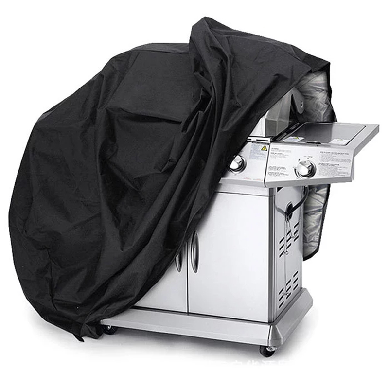 BBQ Cover Grill Accessories Black Grill Cover Outdoor Waterproof Barbeque Cover Dust Rain UV Resistant  Grill Cover 4 Sizes