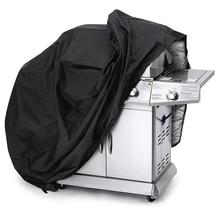 Чехол для гриля принадлежности для гриля черный Гриль Крышка Открытый водостойкий Чехол для барбекю пыль дождь УФ-защита Гриль Крышка 4 размера