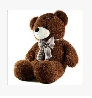 ФОТО Stuffed animal 80cm coffee bear tie Teddy bear plush toy soft doll gift w1675
