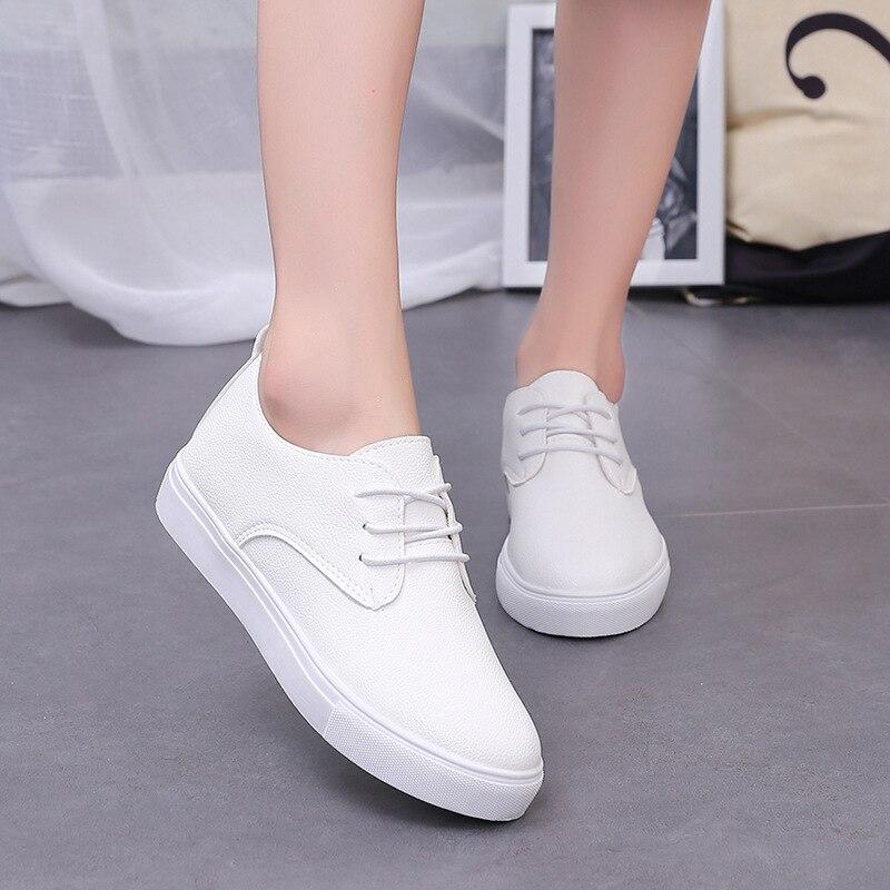 Zapatos de Alta Calidad de Las Mujeres de LA PU de Cuero de las mujeres Zapatos