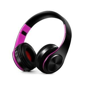 Image 5 - หูฟังไร้สายสเตอริโอบลูทูธหูฟังรองรับหูฟัง SD Card เล่นสำหรับโทรศัพท์มือถือแล็ปท็อป PC พร้อมไมโครโฟน