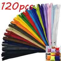 Nylon-reißverschlüsse in groß für handwerk nähen schneider (20 farben) (lot von 120 stücke, 22 cm)