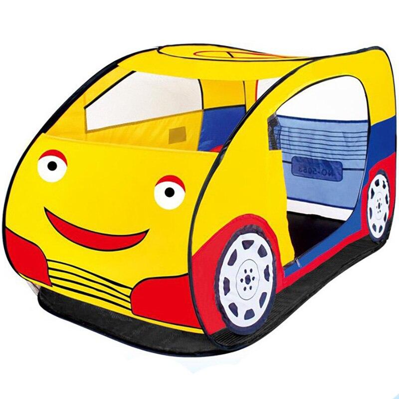 3-14 ans tente de voiture de bande dessinée pour enfants tente Interactive Parent-enfant pour garçons et filles disponible pour être construit 2018