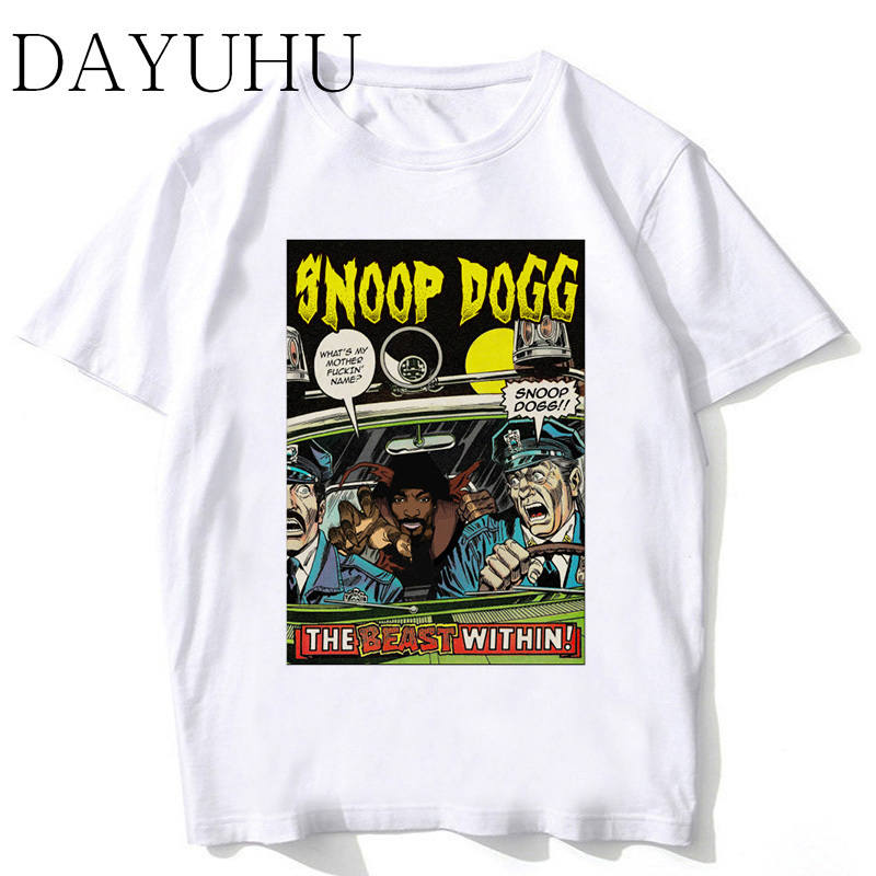 eb9e25835bcb18 Snoop Dogg New Arrivals 2018 Fashion T-Shirt Men Customied Fitness White  Printed T Shirt