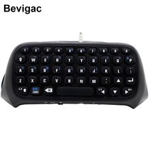 Bevigac Mini Nirkabel Bluetooth Keyboard Keypad Kunci Chatpad Chatting Pad untuk Sony Play Stasiun PS 4 PS4 Game Controller Aksesoris(China)