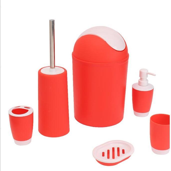 6 pièces/ensemble brosse à dents porte-pâte poubelle porte-savon déstylos Style européen salle de bains accessoire ensemble 0917