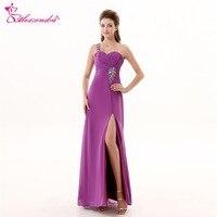 Alexzendra Sweetheart One Shoulder Purple Long Prom Dresses Plus Size Bridesmaid Dresses Party Dress for Girls