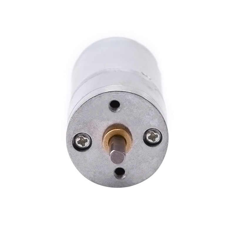 JGA25-370 motoréducteur moteur à courant continu 6 V 12 V motoréducteur électrique couple élevé 5/10/15/30/60/100/150/200/300/400/500/1000/1200/rpm