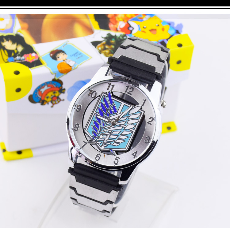 Cartoon toy Anime Attack on Titan Scout Legion/Eren Mikasa Pierced Style Watch with Box Gift Collection Action Figure Model