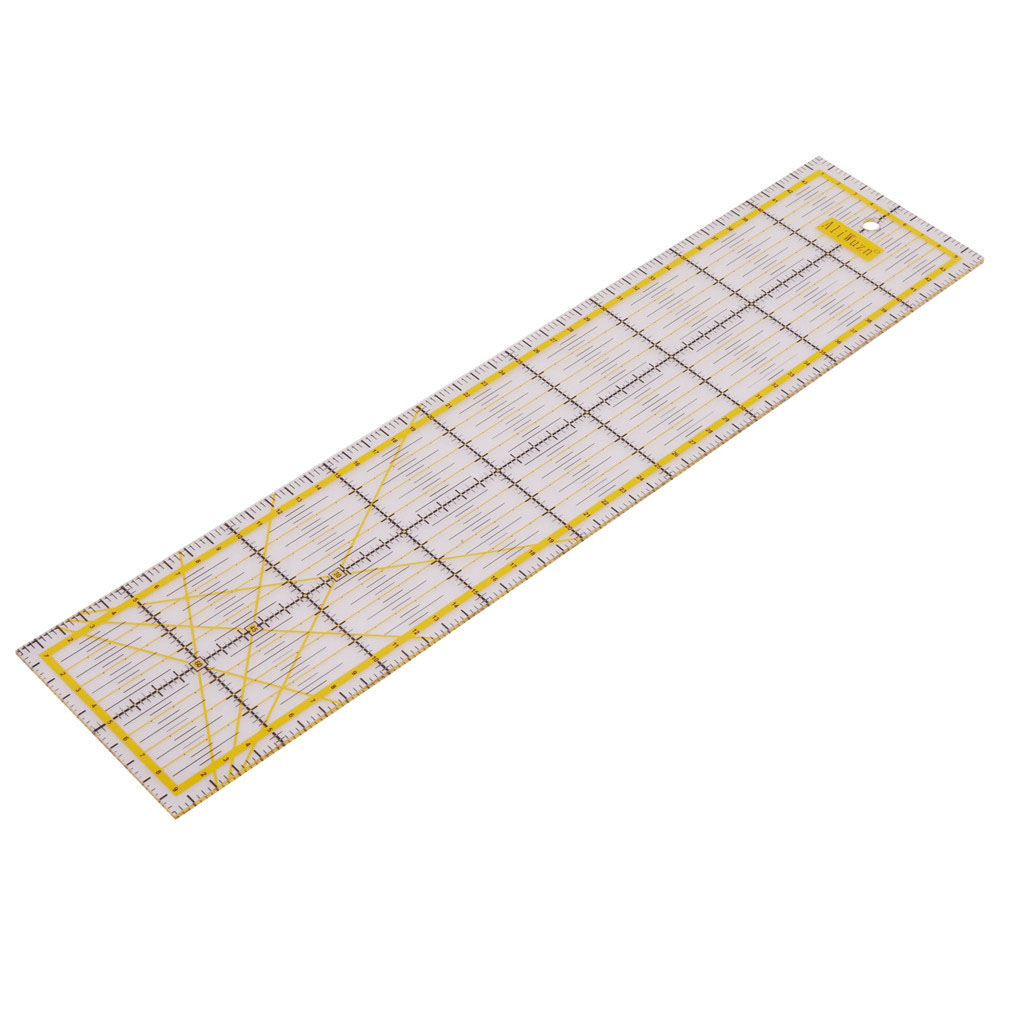 1 Pcs 45 * 10 * 0.3cm Acrylic Material Measuring Ruler Tailor Cutting Patchwork Ruler Student Diy Hand Footage General Rulers