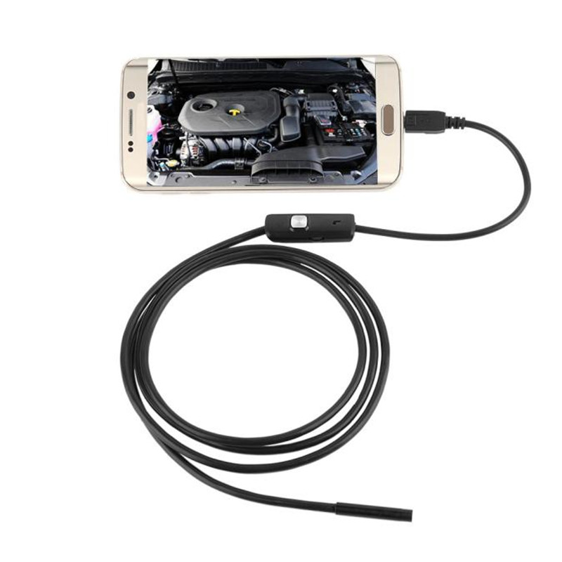 Hot!7mm Lens Mini Camera USB Cable Mini Inspection Camera Android 6LED Waterproof Endoscope Borescope Snake Tube Camera Mar9