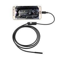 Hot!7mm Lens Mini Camera USB Cable Mini Inspection Camera Android 6LED Waterproof Endoscope Borescope Snake Tube Camera Mar9