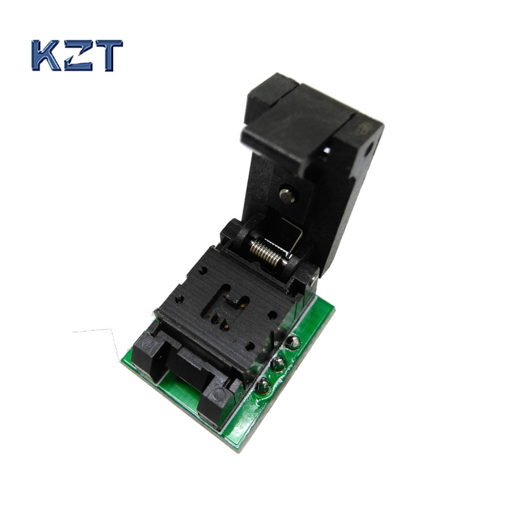 SOT23-5-0.95 Clamshell Pogo Pin Probe Test Socket SOT23-5-0.95-CP01PNL Programming Socket Pitch 0.95 Chip Size 1.6*3mm sot23 3 sot23 5 sot23 6 test socket head seep sot23 programmer adapter for gang 08 programmer
