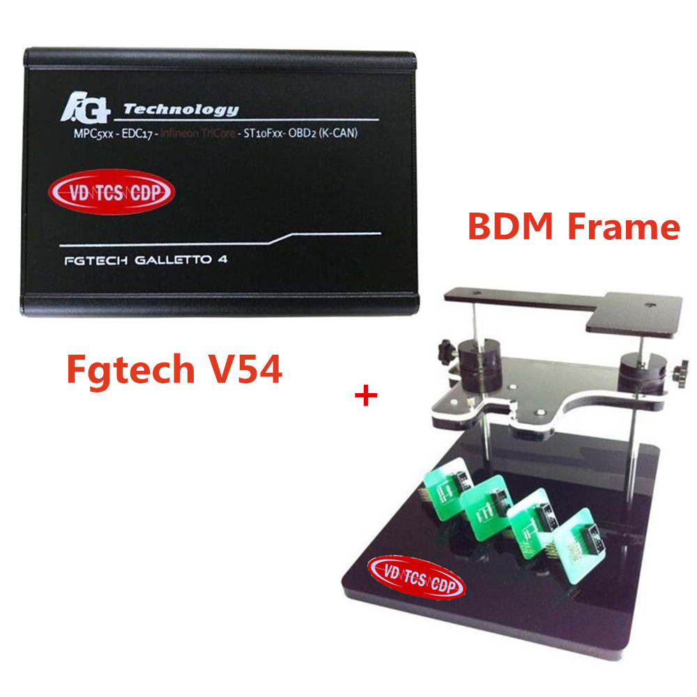 2017 NEW!!--Quality A+ Real V54 fgtech galletto 4 master FG Tech BDM-TriCore-OBD +BDM FRAME with Adapters Set for BDM100 CMD !! best quality fg tech v54 auto ecu chip tuning programmer fgtech galletto 4 v54 master bdm obd multi languages free ship