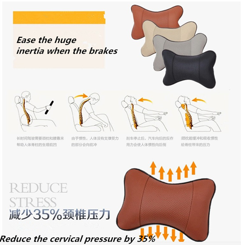 US $16.88 |Car Styling car seat breathable comfortable headrest neck on