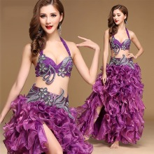 2017 Pretty Lady Belly Dance Costumes 2Pcs/3Pcs Belt&Bra&Skirt Nice Color For Rumba/Samba Dancing Female Stage Fashion 3095
