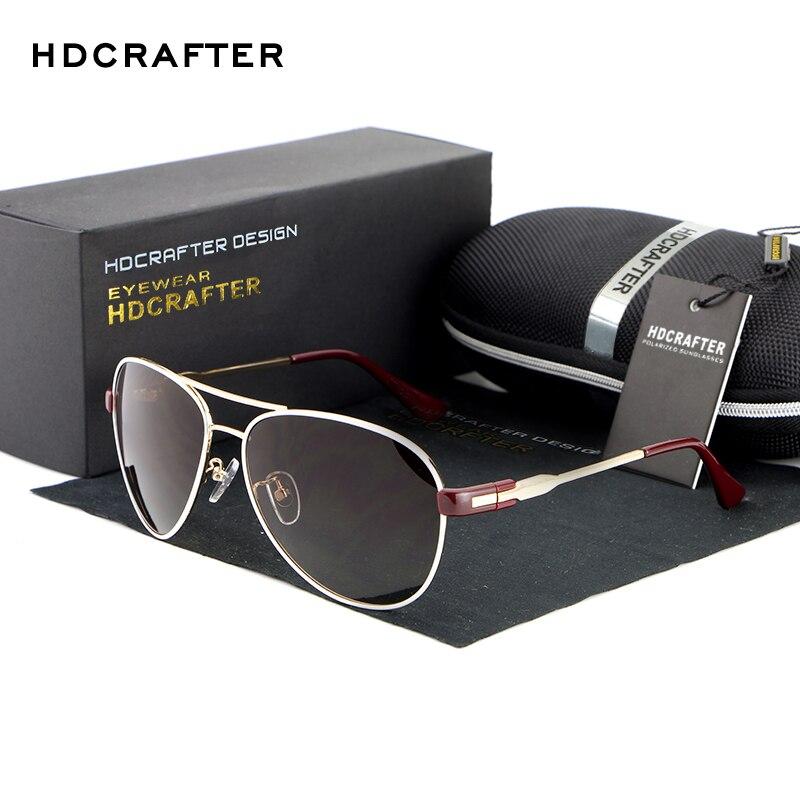 HDCRAFTER font b Fashion b font Unisex Sunglasses Pilot Sunglasses Aluminum Magnesium High Quality font b