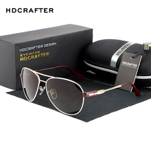 HDCRAFTER Fashion Unisex Sunglasses Pilot Sunglasses  Aluminum Magnesium High Quality Polarized Mirror Sun Glasses Eyewear