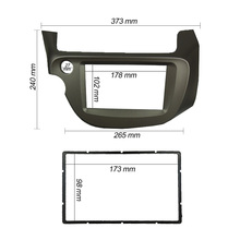 Double Din Panel Dash Mounting Installation Trim Face Frame Kit For Fit Jazz