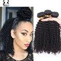 7А Монгольские Странный Вьющиеся Волосы Человеческих Волос Weave Пучки 3 монгольской Kiny Вьющиеся Девы Волос Bundle Предложения Мед Королева Волос продукты