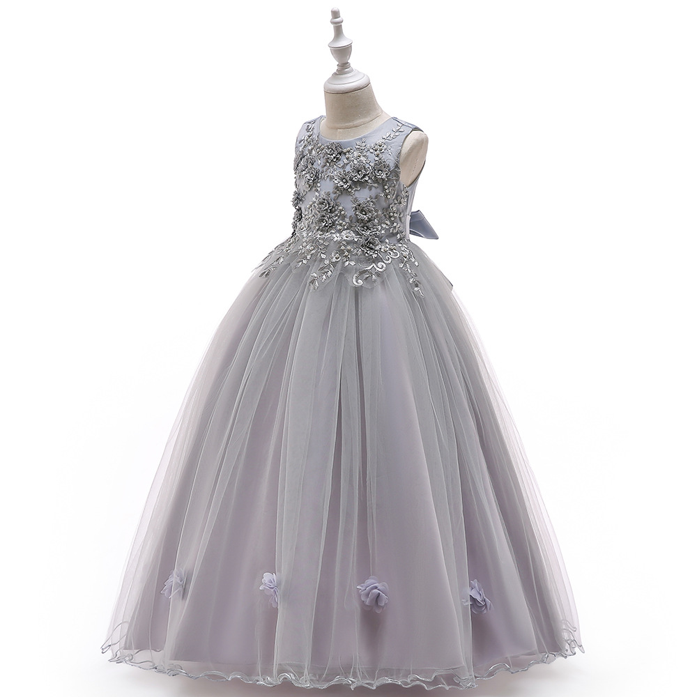 Girls Lace Dress Kid Girls First Communion Dresses Tulle Wedding Princess Costume For Junior Children Clothes Elegant