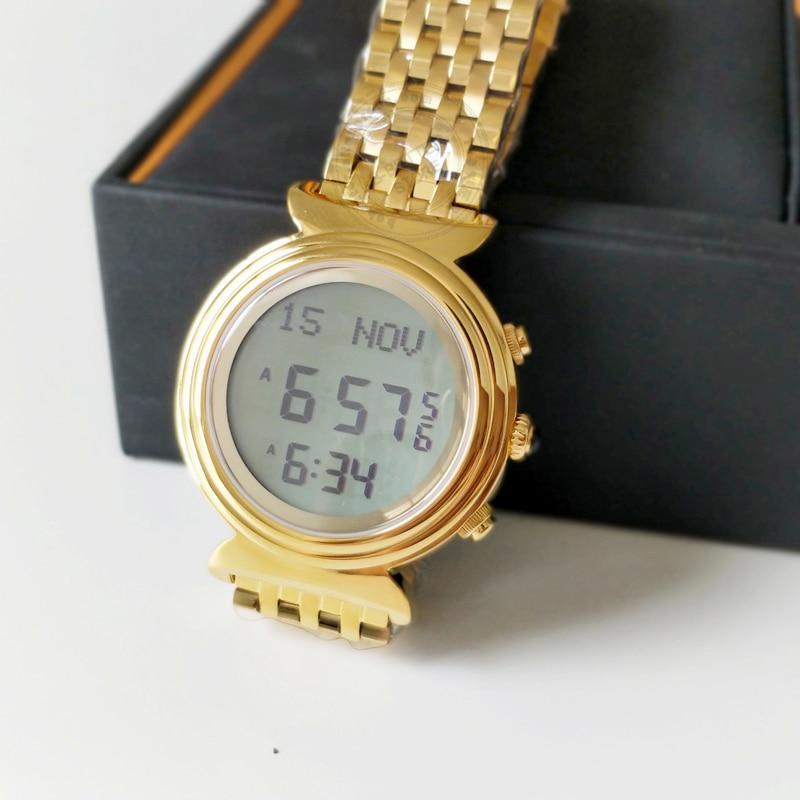 Muslim Azan Watch Al Harameen Fajr Time Prayer Clock Islamic Qibla Wristwatch With Compass Best gift for Lady