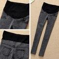 Ropa de maternidad pantalones cintura elástico ajustable Abdominal lápiz de los pantalones vaqueros alta calidad primavera y otoño