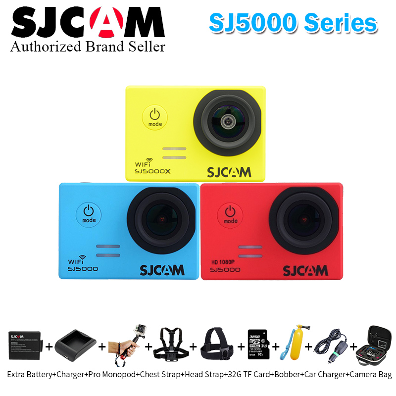 Original SJCAM SJ5000 Series Action Video Camera SJ5000X 4K Elite / SJ5000 Wifi / SJ5000 Basic Mini Outdoor Sport Camcorder DV 2 0 4k sjcam sj5000 series sj5000x elite wifi ntk96660 mini gyro 30 waterproof sports action camera sj cam dvr many accessories
