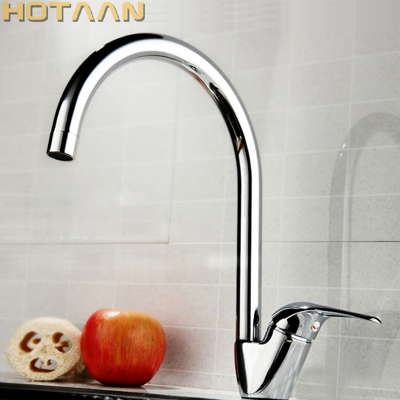 Free Shipping Swan Leading Hot And Cold Kitchen Faucet Single Handle Single Hole Kitchen Faucet Kitchen Sink Faucet Torneira