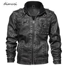 Dimusi Для мужчин осень-зима Босоножки из искусственной pu Кожи Мотоциклетные Кожаные куртки мужской Бизнес повседневные пальто брендовая одежда 5XL, TA132