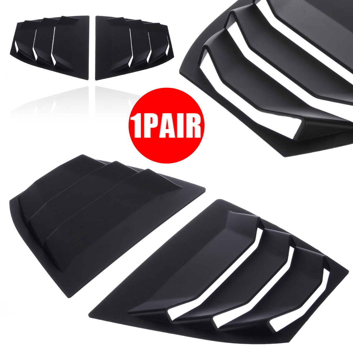 1 Pair Rear Quarter Panel Window Side Louver Vent ABS Matte Black For Mazda 3 AXELA 14 17 in Chromium Styling from Automobiles Motorcycles