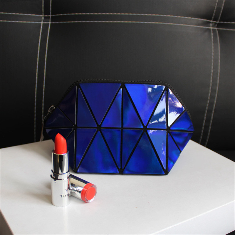 Women 39 s Cosmetic Bags Fashion Laser PU Semi circular Makeup Storage Bag Shiny Shell Cosmetic Bag in Cosmetic Bags amp Cases from Luggage amp Bags