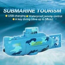2016 Nova moda Grande Submarino RC Brinquedos Ao Ar Livre 3311 De Água RC 6CH barco Lancha Modelo de Alta Potência 3.7 V Modelo de Barco De Brinquedo De Plástico