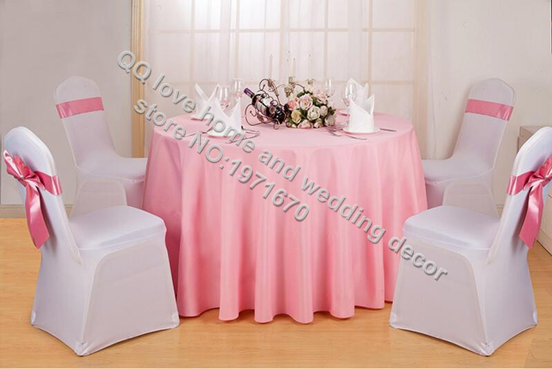 Solid Color 100% Polyester Round Table Cover Fabric Square Dining Table  Cloth Tablecloth Hotel Office Wedding Booth Setting In Tablecloths From  Home ...