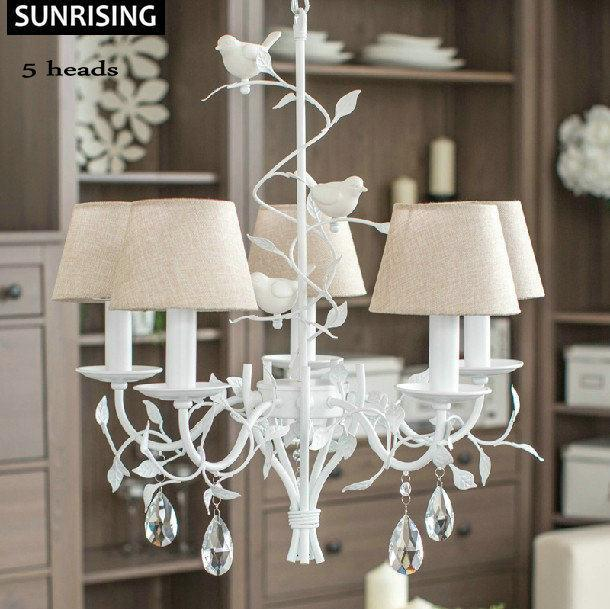 IKEA Birds Nordic Home Lights Simple Crystal Chandeliers Lustres - Crystal chandelier ikea