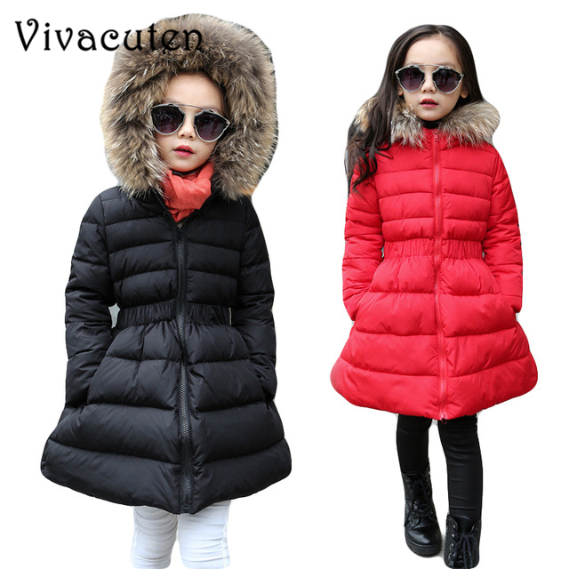 2018 Solid Children Down Jackets Russia Winter Coat For Girls Thick Duck Down Kids Outerwear For Cold Fur Hooded Teens Overcoat цена