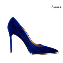 Aiyoway Fashion Women Shoes Ladies Pointed Toe High Heel Pumps Metal Decorated Autumn Spring Party Work Shoes Slip On Big Size все цены