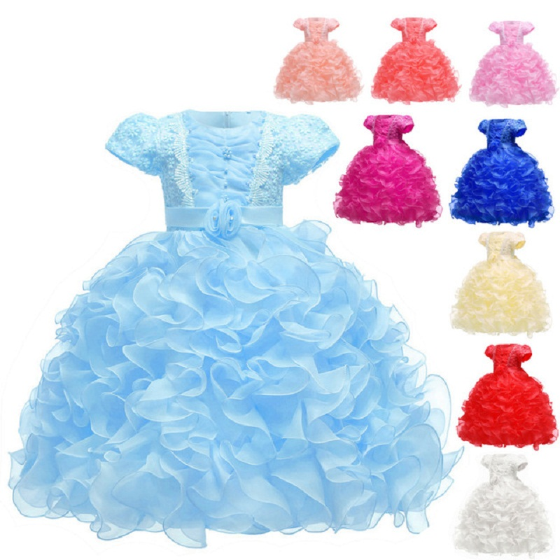 Flower     Girls     dress   Cake tutu Kids Clothing Elegent Cinderella Bella Kids   Dresses   for   Girls   Children Princess Party Custumes
