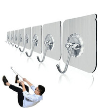 10pcs Strong seamless hook glue kitchen wall hooks free punching suction cup