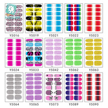цена на 1Pcs  Fashion Full Cover Nail Wraps Adhesive Nail Sticker Coloful Self Adhesive Nail Foils Decoration Art Decals