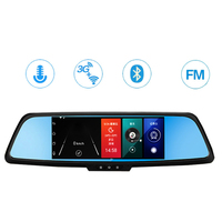 H9 Car DVR 3G Rearview Mirror Video Recorder 7 inch Wifi Bluetooth FM Transmitter 1080P HD Dash Camera Support G sensor With Mic