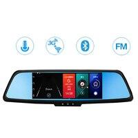 H9 Car DVR 3G Rearview Mirror Video Recorder 7 Inch Wifi Bluetooth FM Transmitter 1080P HD