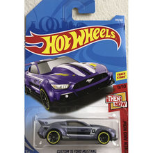 New Arrivals 2018 8J Hot Wheels 1:64 purple custom 15th ford mustang Car Models Collection Kids Toys Vehicle For Children cars(China)